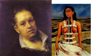 Self Portraits ~ Goya & Kahlo