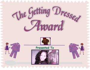 Ruby's getting dressed award