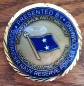 Challenge coin - back